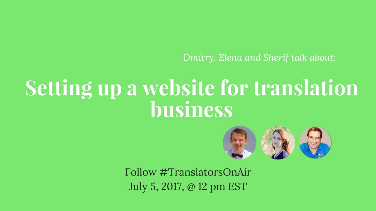 Free Webinar Setting Up A Website For Translation Business